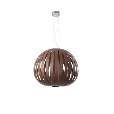 Poppy 1-Light Globe Pendant Finish: Chocolate, Size: 24.8 H x 24.8 W x 29.5 D, Bulb Type: GU24