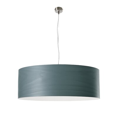 Gea 1-Light Drum Pendant Finish: Turquoise, Size: 7.8 H x 27.5 W x 27.5 D, Bulb Type: E26 Base