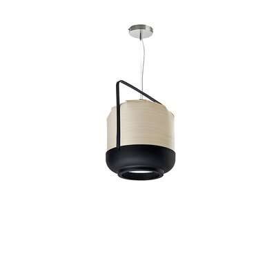 Chou 1-Light Pendant Bulb Type: E26 Base, Finish: Ivory White, Size: Small