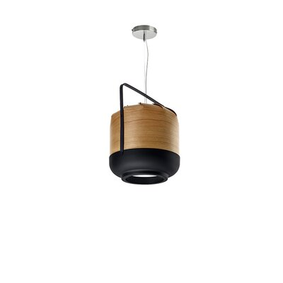 Chou 1-Light Mini Pendant Finish: Natural Cherry, Size: Small, Bulb Type: GU24 Base