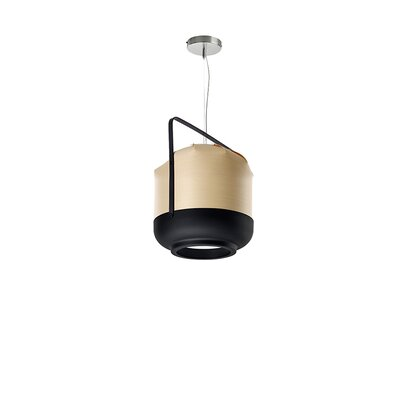 Chou 1-Light Pendant Finish: Natural Beech, Size: Small, Bulb Type: GU24 Base