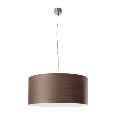 Gea Drum Pendant Finish: Ivory White, Size: Small, Bulb Type: E26 Base