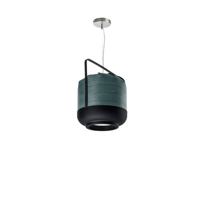 Chou 1-Light Pendant Finish: Turquoise, Size: Small, Bulb Type: GU24 Base