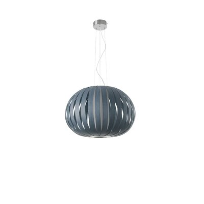 Small Poppy 1-Light Pendant Bulb Type: GU24 Base, Finish: Blue