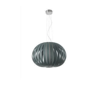 Poppy 1-Light Globe Pendant Finish: Turquoise, Size: 24.8 H x 24.8 W x 29.5 D, Bulb Type: GU24