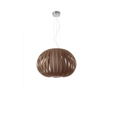 Small Poppy 1-Light Pendant Finish: Chocolate, Bulb Type: E26 Base