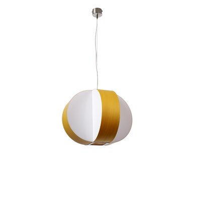 Carambola 1-Light Pendant Bulb Type: GU24 Base, Finish: Yellow