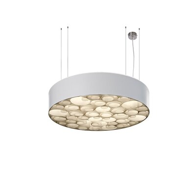Spiro 4-Light Drum Pendant Shade Color: White, Interior Shade Color: Ivory White, Ballast: Multivolt