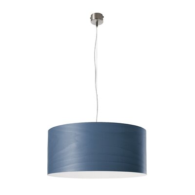 Gea 1-Light Drum Pendant Finish: Blue, Size: 7.8 H x 16.5 W x 16.5 D, Bulb Type: GU24 Base