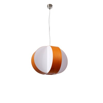 Carambola 1-Light Pendant Bulb Type: E26 Base, Finish: Orange