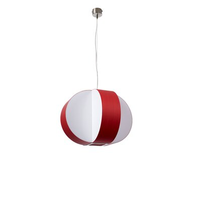 Carambola 1-Light Pendant Bulb Type: GU24 Base, Finish: Red