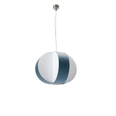 Carambola 1-Light Globe Pendant Finish: Blue, Bulb Type: E26 Base