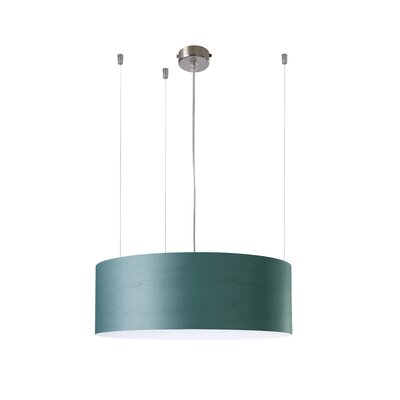 Gea 1-Light Drum Pendant Finish: Turquoise, Ballast: Multivolt