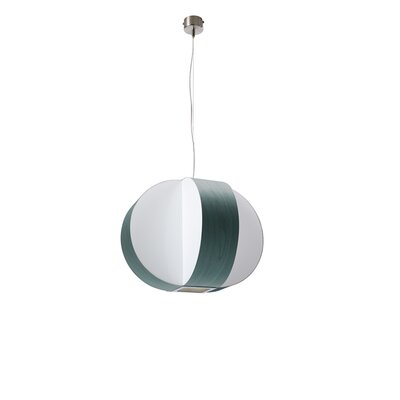 Carambola 1-Light Globe Pendant Finish: Turquoise, Bulb Type: E26 Base