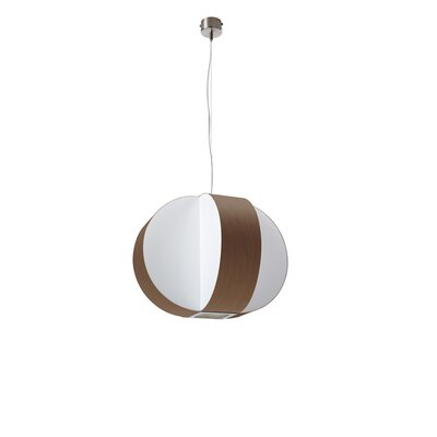 Carambola 1-Light Globe Pendant Finish: Chocolate, Bulb Type: GU24 Base