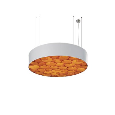 Spiro 4-Light Drum Pendant Shade Color: White, Interior Shade Color: Orange, Ballast: Dimmable