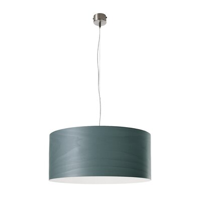 Gea Drum Pendant Size: Small, Bulb Type: GU24 Base, Finish: Turquoise