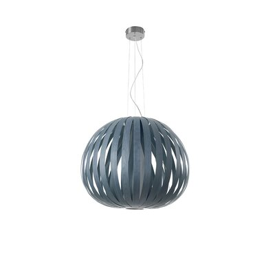 Poppy 1-Light Globe Pendant Finish: Blue, Bulb Type: E26 Base