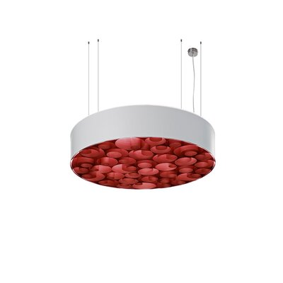 Spiro 4-Light Drum Pendant Shade Color: White, Ballast: Multivolt, Interior Shade Color: Red