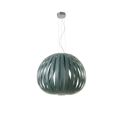 Poppy 1-Light Pendant Bulb Type: GU24 Base, Finish: Turquoise