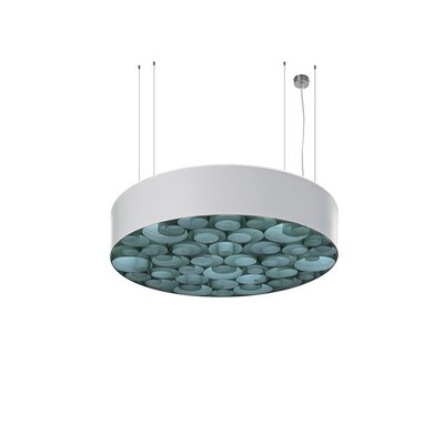 Spiro 10 LED Integrated Bulb Drum Pendant Shade Color: Turquoise