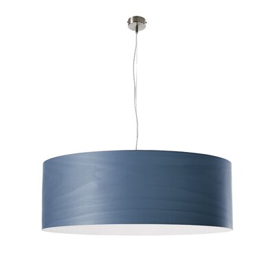 Gea Drum Pendant Finish: Blue, Bulb Type: E26 Base, Size: Large
