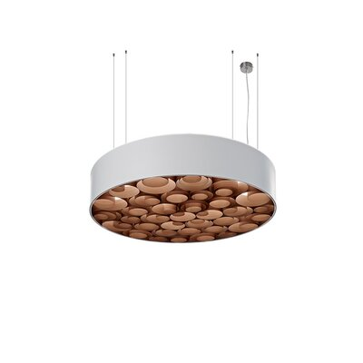 Spiro 4-Light Drum Pendant Shade Color: White, Ballast: Multivolt, Interior Shade Color: Chocolate