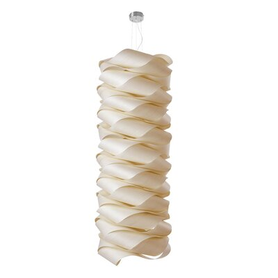 Link Modular Suspension Lamp Base Finish: Ivory White, Bulb Type: E26 Base