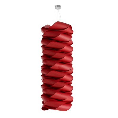 Link Modular Suspension Lamp Base Finish: Red, Bulb Type: GU24 Base