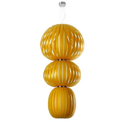 Totem 2-Light Waterfall Chandelier Finish: Yellow, Ballast: Multivolt