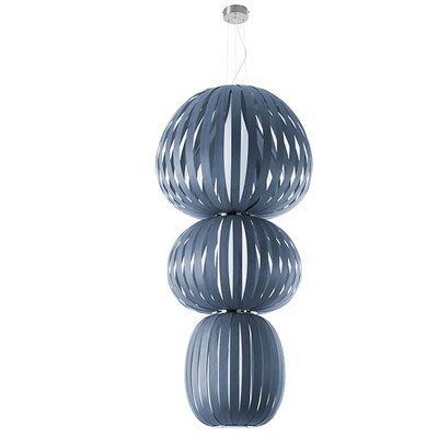Totem 2-Light Waterfall Chandelier Finish: Blue, Ballast: Multivolt
