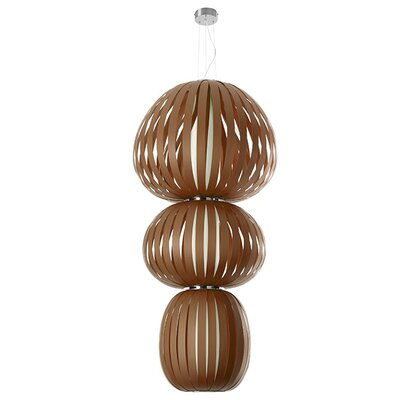 Totem 2-Light Waterfall Chandelier Ballast: Multivolt, Finish: Chocolate