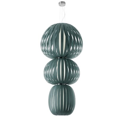 Totem 2-Light Waterfall Chandelier Finish: Turquoise, Ballast: Dimmable