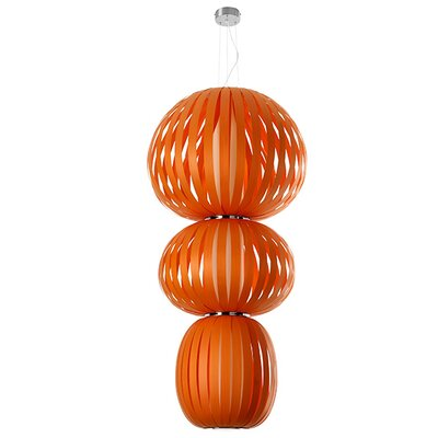 Totem 2-Light Waterfall Chandelier Finish: Orange, Ballast: Multivolt