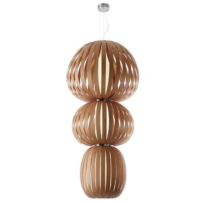 Totem 2-Light Waterfall Chandelier Finish: Natural Cherry, Ballast: Multivolt