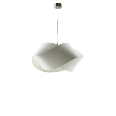 Nut 1-Light Geometric Pendant Shade Color: Ivory White, Bulb: GU24