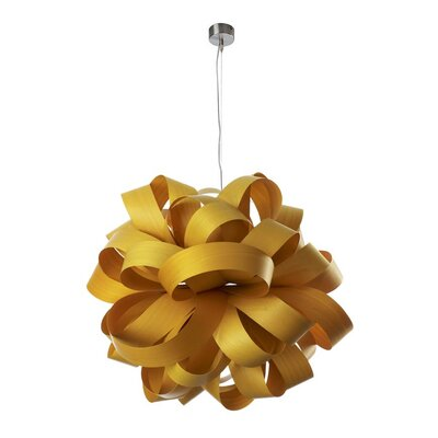Agatha Ball 1-Light Geometric Pendant Shade Color: Yellow, Lamping Option: GU24 Base