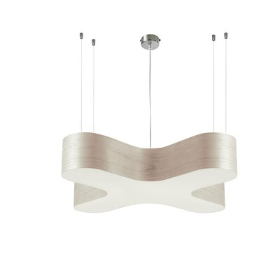 X Club 2-Light Geometric Pendant Shade Color: Natural Beech, Voltage Option: Dimmable, Size: Medium