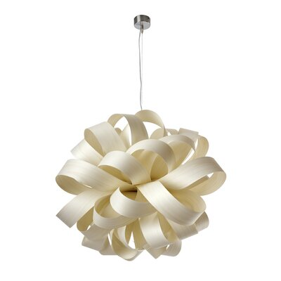 Agatha SB Ball Suspension Shade Color: Ivory White, Lamping Option: E26 Base
