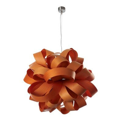 Agatha SB Ball Suspension Shade Color: Orange, Lamping Option: E26 Base