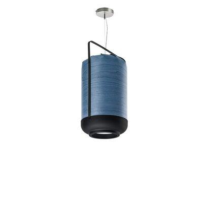 Chou 1-Light Pendant Finish: Blue, Bulb Type: GU24 Base, Size: Small