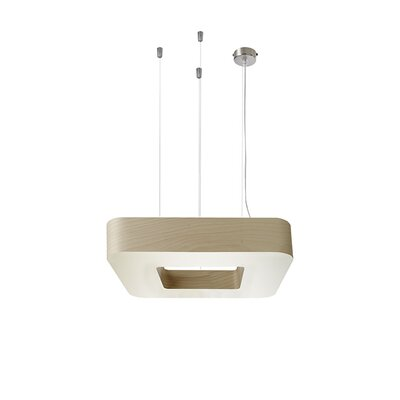 Cuad 8 LED Integrated Bulb Pendant Shade Color: Natural Beech