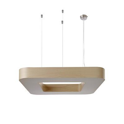 Cuad 12 LED Integrated Bulb Pendant Shade Color: Natural Beech