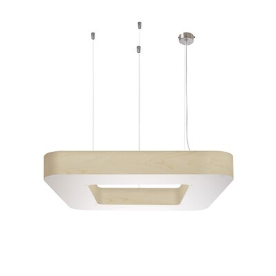 Cuad 12 LED Integrated Bulb Pendant Shade Color: Ivory White