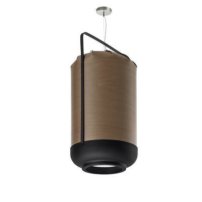 Chou 1-Light Pendant Finish: Natural Cherry, Bulb Type: GU24 Base, Size: Small