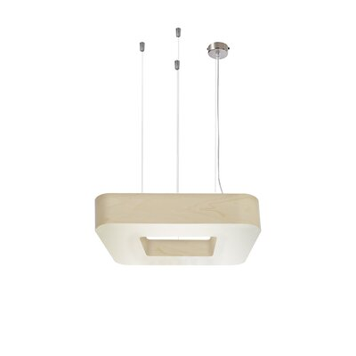 Cuad 8 LED Integrated Bulb Pendant Shade Color: Ivory White