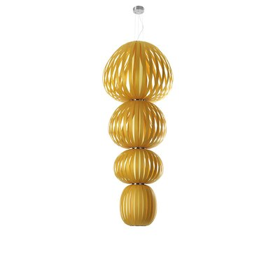Totem 4-Light Shaded Chandelier Finish: Yellow, Ballast: Dimmable