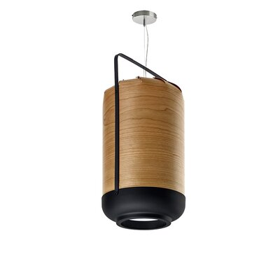 Chou 1-Light Pendant Finish: Natural Cherry, Bulb Type: E26 Base, Size: Medium
