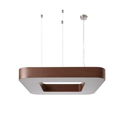 Cuad 12 LED Integrated Bulb Pendant Shade Color: Chocolate