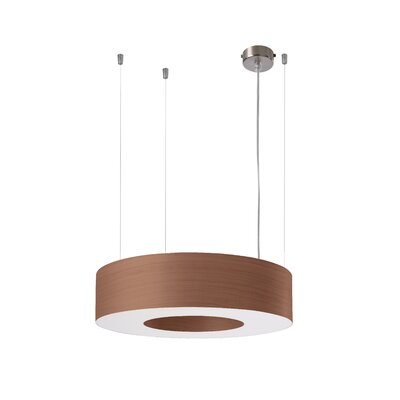 Saturnia 6 LED Integrated Bulb Drum Pendant Shade Color: Chocolate
